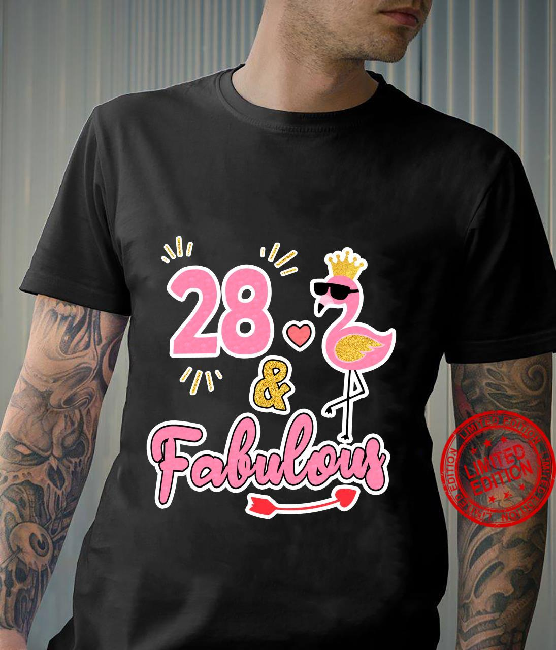 28 and fabulous 28 years old 28th Birthday Shirt