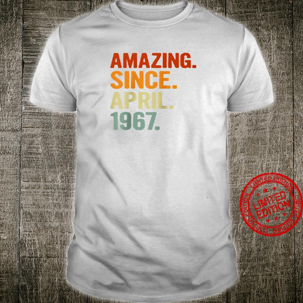Amazing Since April 1967 Retro 54 Years Old 54th Birthday Shirt
