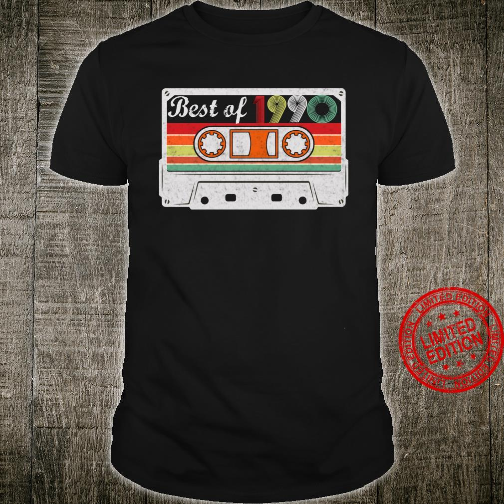31th Birthday Retro Vintage Best Of 1990 31 Years Old Shirt