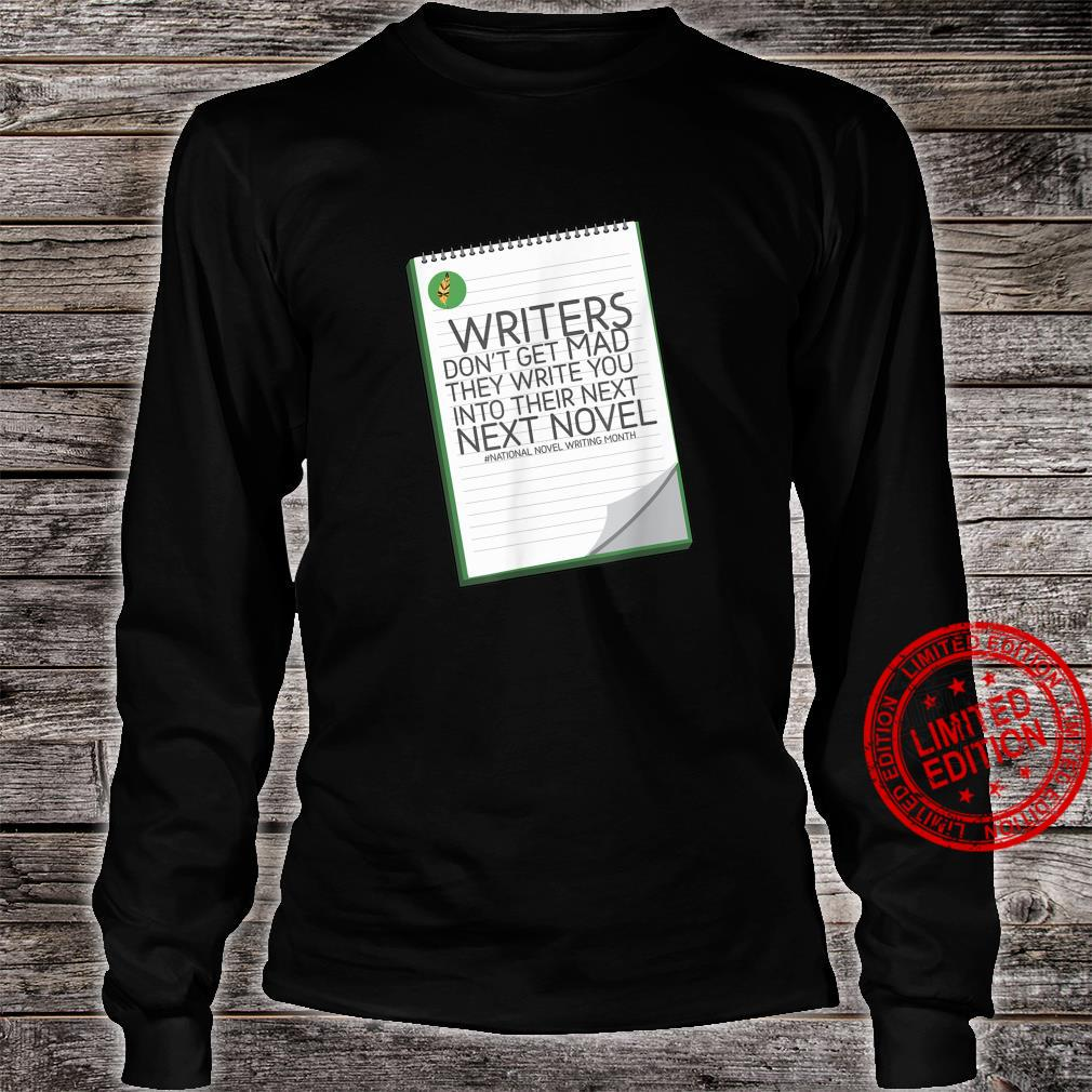 Encouraging Work Of A Writer Statement Shirt long sleeved