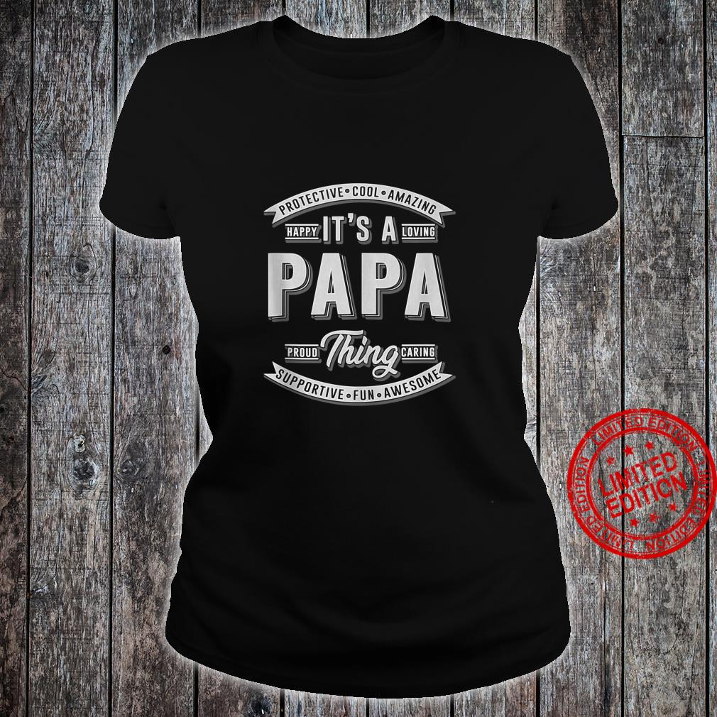 FAMILY 365 Father's Day It's a Papa Thing Grandpa Shirt ladies tee