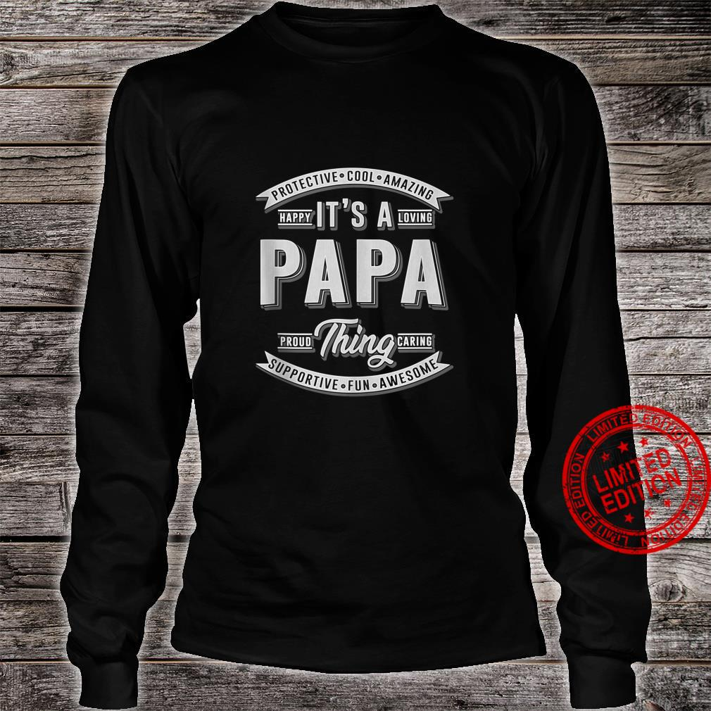 FAMILY 365 Father's Day It's a Papa Thing Grandpa Shirt long sleeved