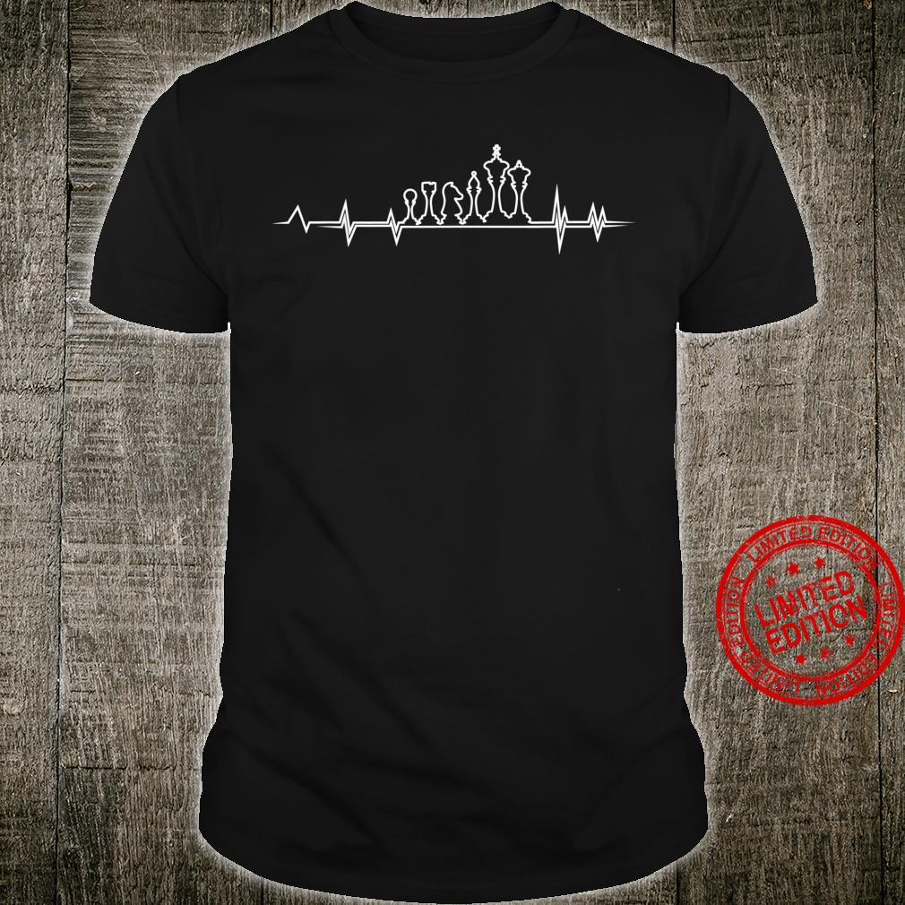 Funny Chess Player Heartbeat For Chess Boys And Girls Shirt