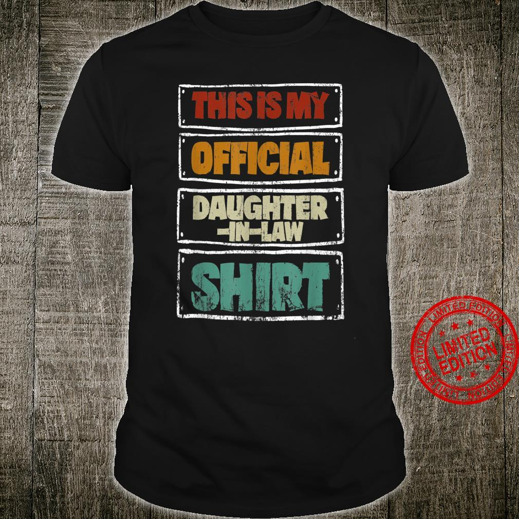 Funny Daughterinlaw Xmas This is My Official Daughter Shirt