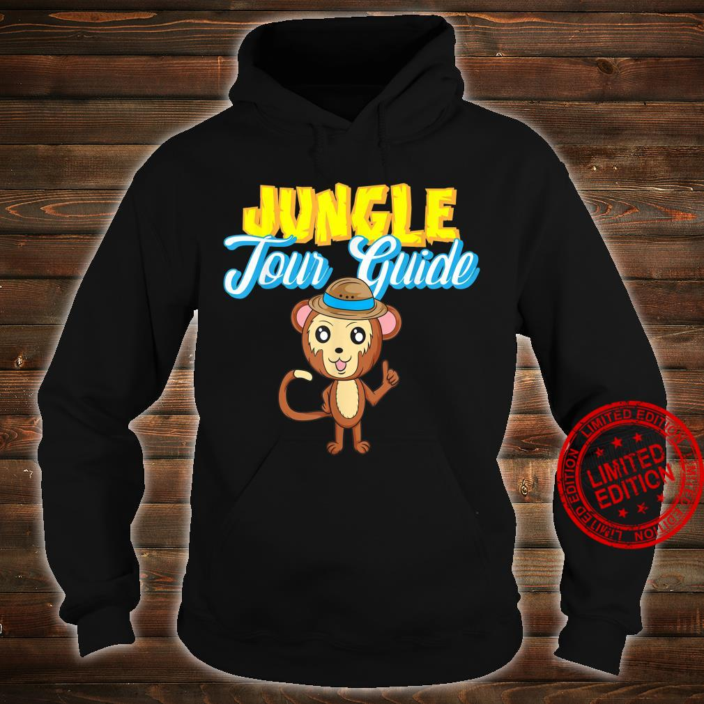 Jungle Tour Guide Tourist Assistance Monkey In Hat Shirt hoodie