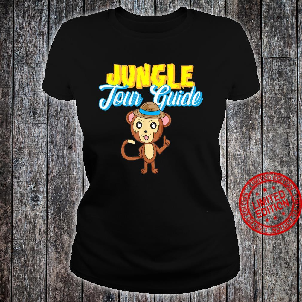 Jungle Tour Guide Tourist Assistance Monkey In Hat Shirt ladies tee