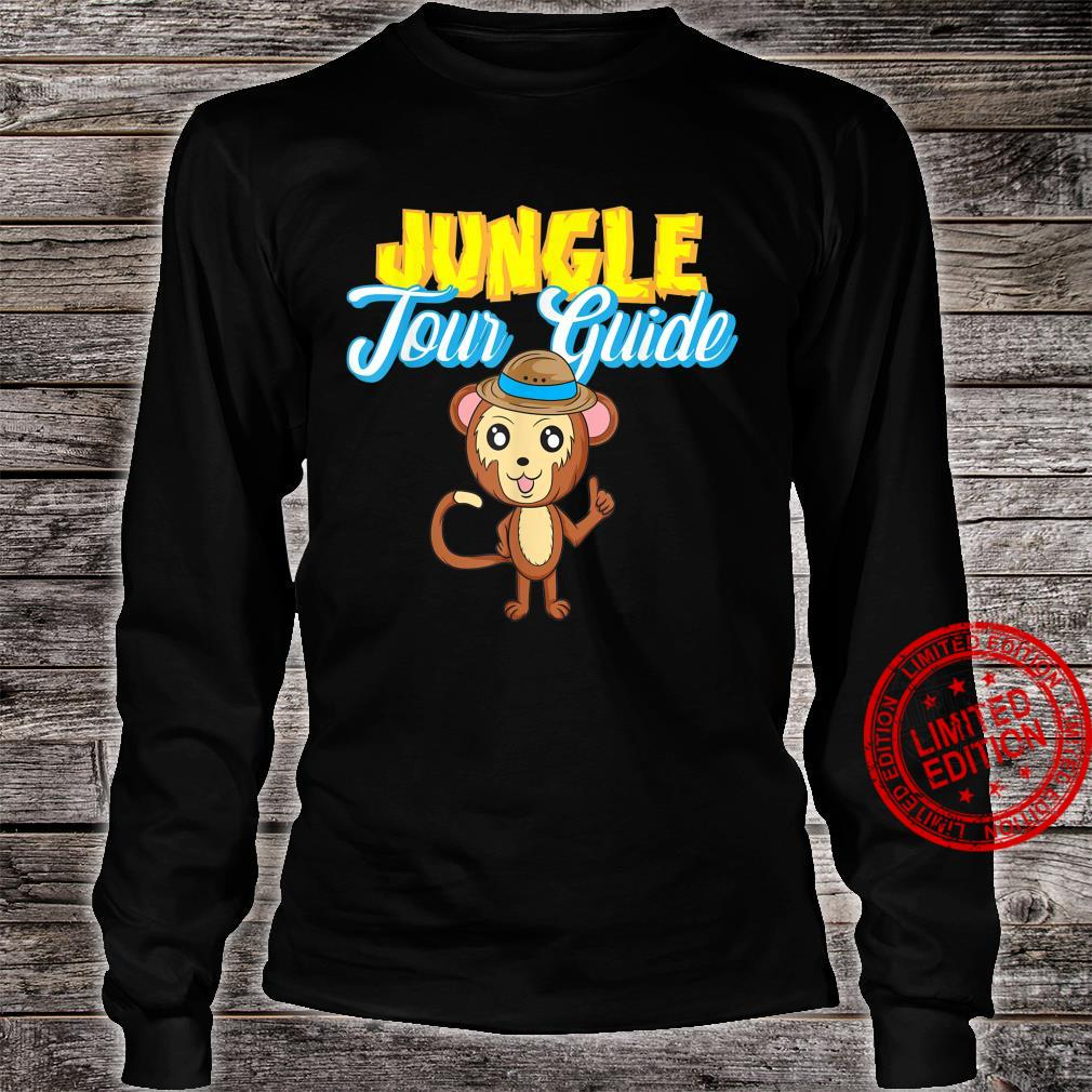 Jungle Tour Guide Tourist Assistance Monkey In Hat Shirt long sleeved