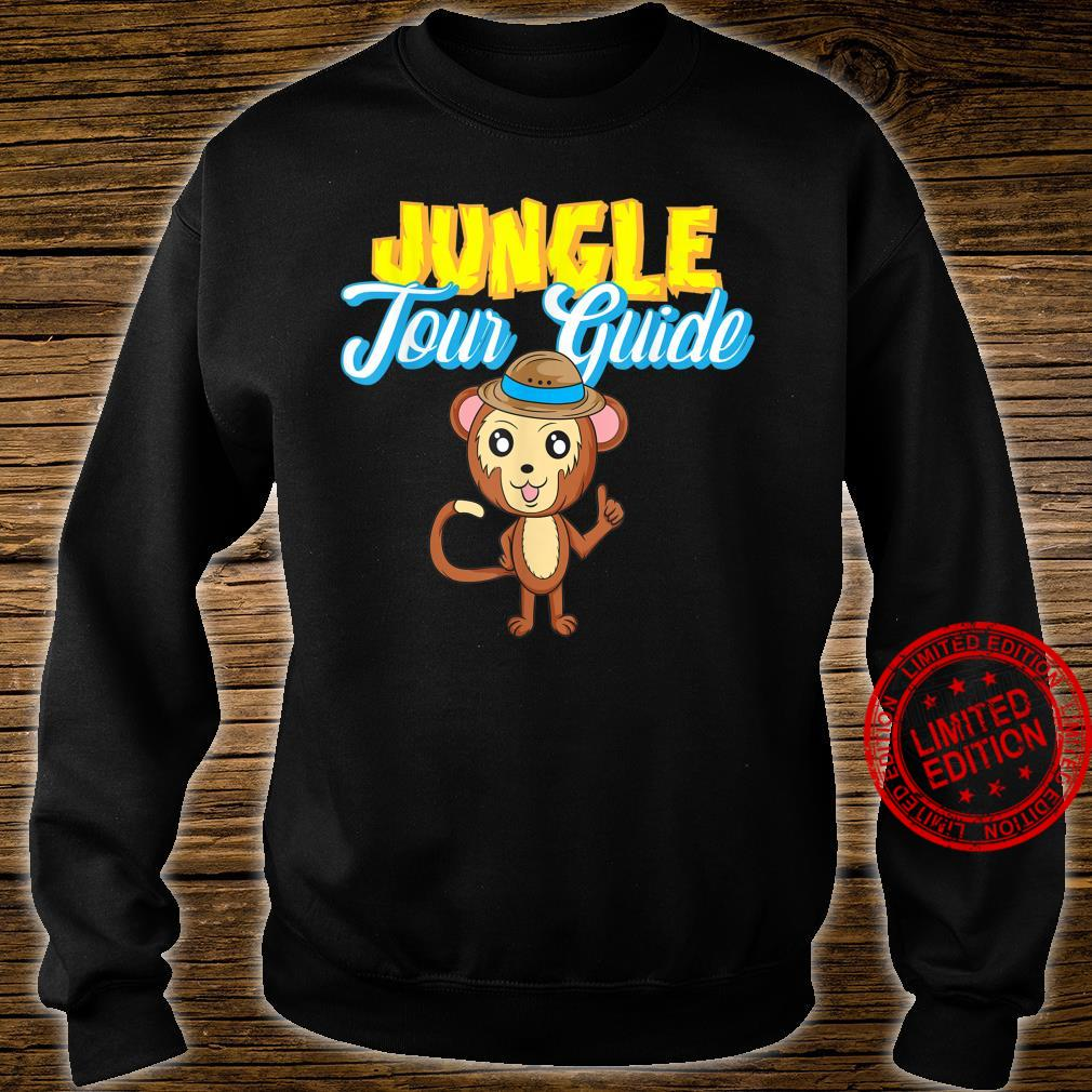 Jungle Tour Guide Tourist Assistance Monkey In Hat Shirt sweater