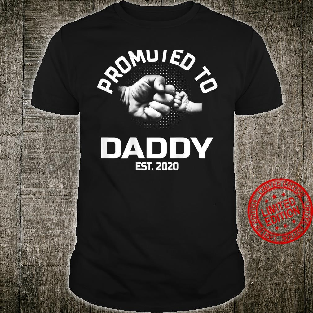 Promoted To Daddy EST 2020 For Dad Grandpa Uncle Shirt